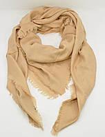Большой кашемировый платок, шаль Louis Vuitton золотистая