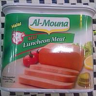 Говяжье мясо в банке. Халяль. Мясная нарезка. Luncheon meat Halal 340 г