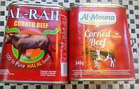 Говяжий фарш в банке. Халяль. Corned beef Halal 340 г