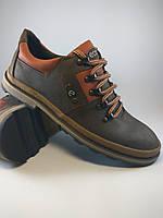 Ecco туфли comfort из натуральной кожи коричневый с рыжим