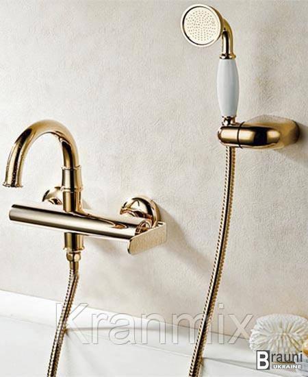 Золотой смеситель для ванны душевая стойка Aquaroom кран в раковину для умывальника