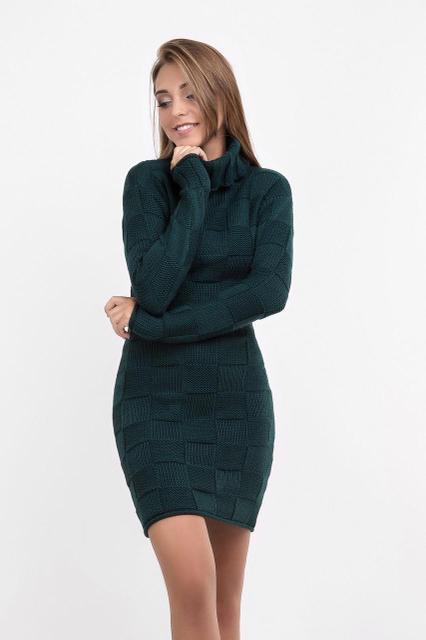 Вязанное платье короткое 1464