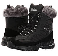 Ботинки зимние женские Skechers Women's D'Lites Chalet Lace Up Faux Fur Collar Winter Boot