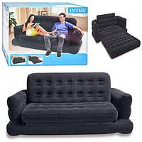 Раскладной велюровый диван-трансформер 2в1 Intex 193х231х71 см (68566), фото 1