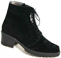 Зимние женские замшевые ботинки большого размера 36-44р