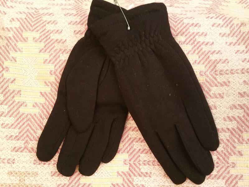 Мужские перчатки тёплые трикотаж кролик