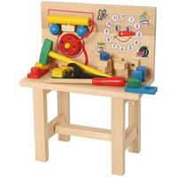 Стол для юного мастера с часами, 82145, Bino