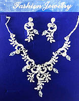 Нежные и романтичные свадебные украшения, комплекты бижутерии серьги + колье 182