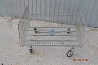 Кошик сітчаста на колесах бу, фото 1