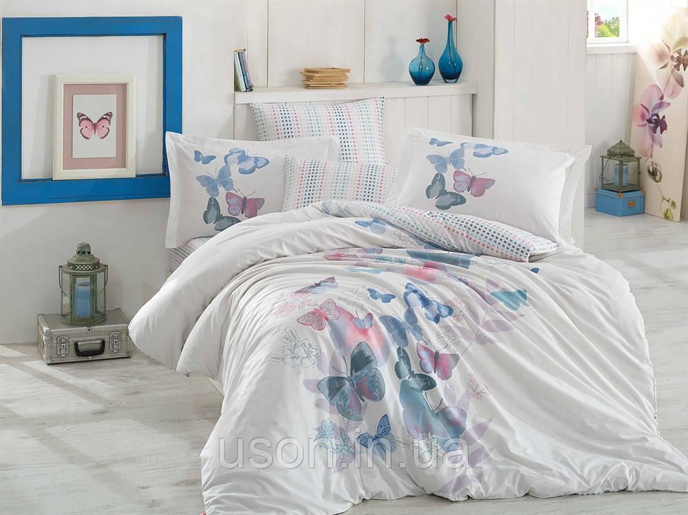 Комплект постельного белья  Hobby поплин размер евро Sueno зеленый