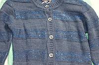 Кофта вязанная на пуговицах для девочки 9-14 лет с пайетками