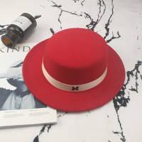 Шляпа женская фетровая канотье в стиле Maison Michel красная