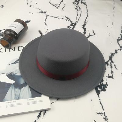 Шляпа женская фетровая канотье в стиле Maison Michel серая