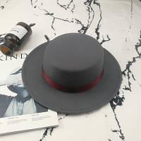 Шляпа женская фетровая канотье в стиле Maison Michel серая, фото 1