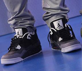 Кроссовки Nike Air Jordan IV Retro Black-Grey