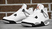 """Баскетбольные кроссовки Nike Air Jordan Retro 4 """"White/Black"""""""