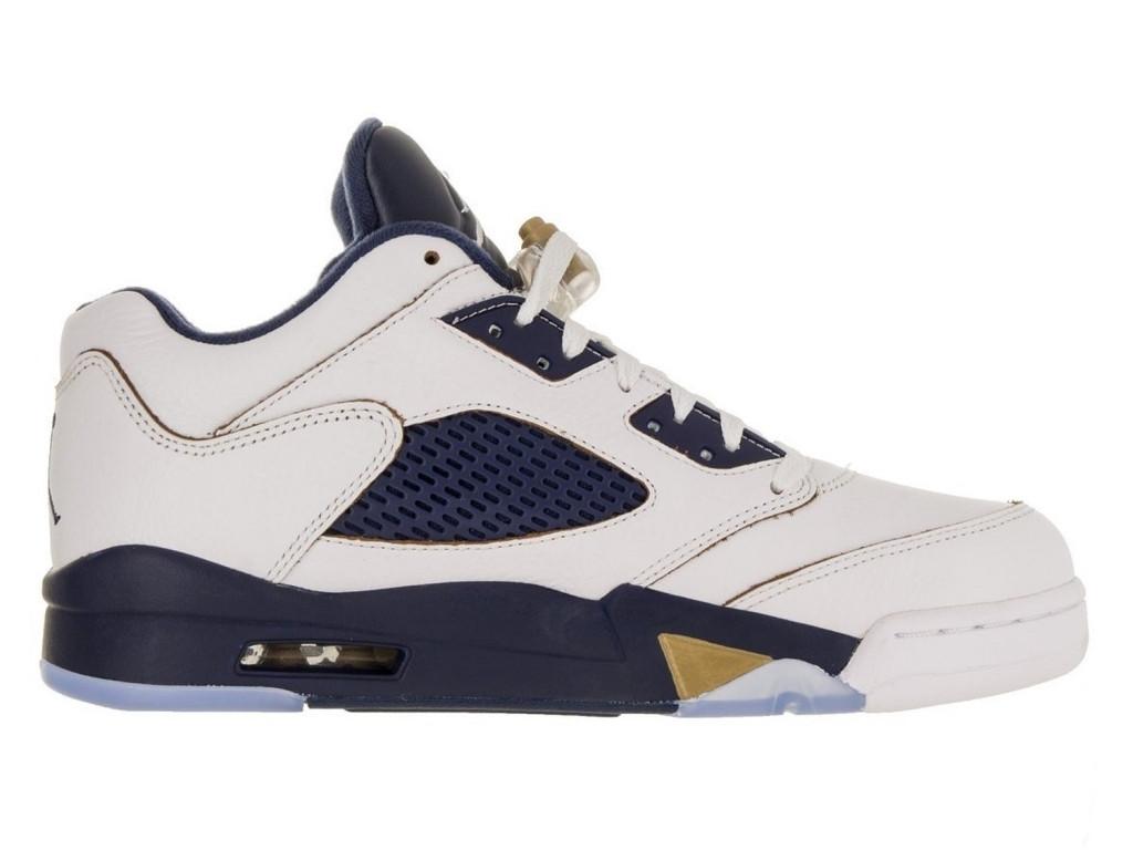 Баскетбольные кроссовки Air Jordan V Retro Low White - Интернет-магазин