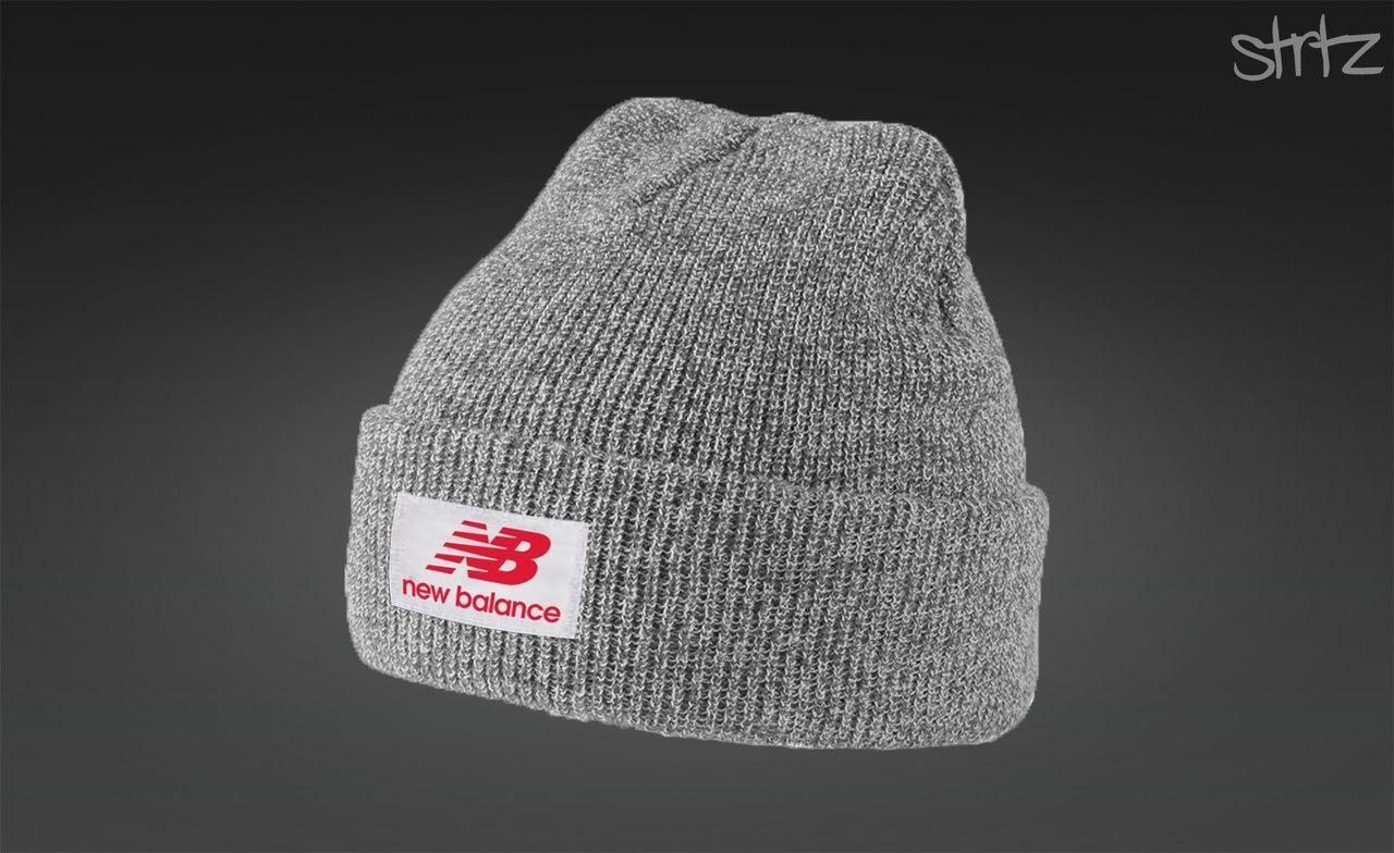 Модная серая шапка New Balance