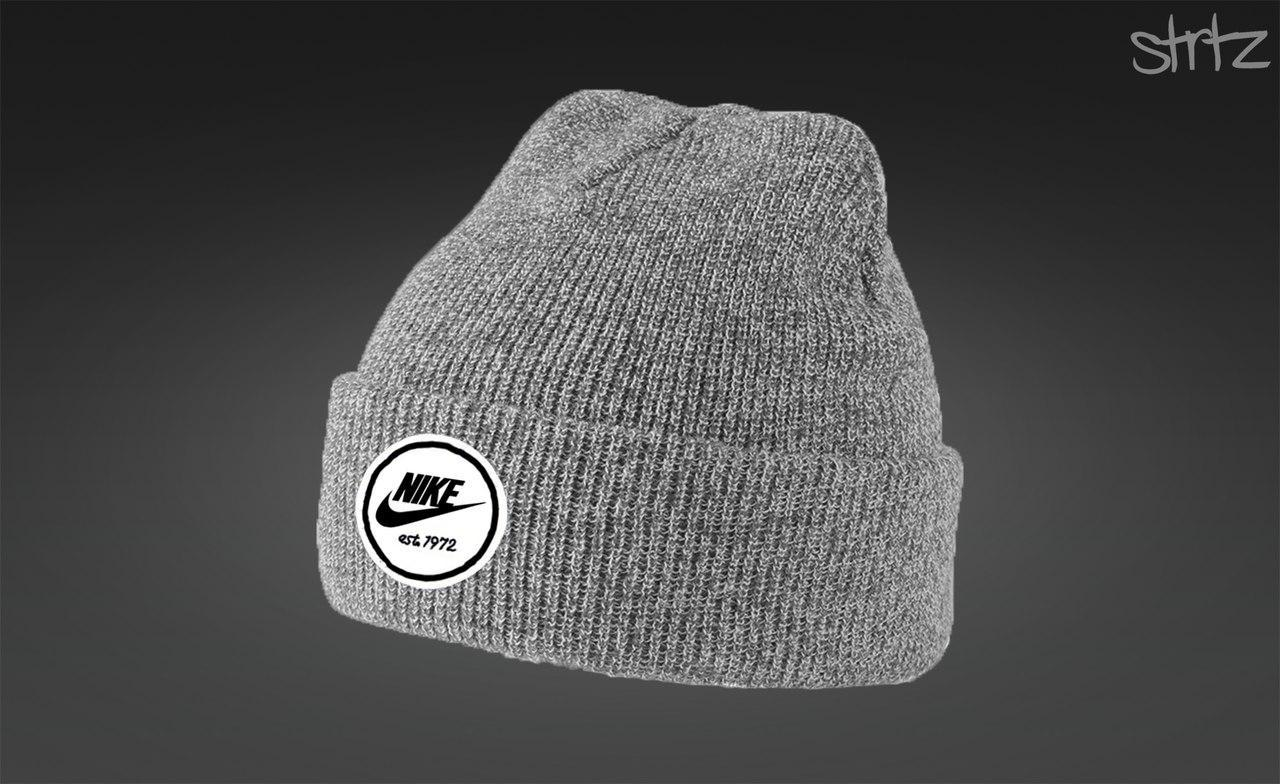 Стильна сіра шапка Nike 1972