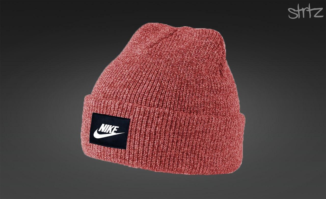 Чоловіча червона шапка найк