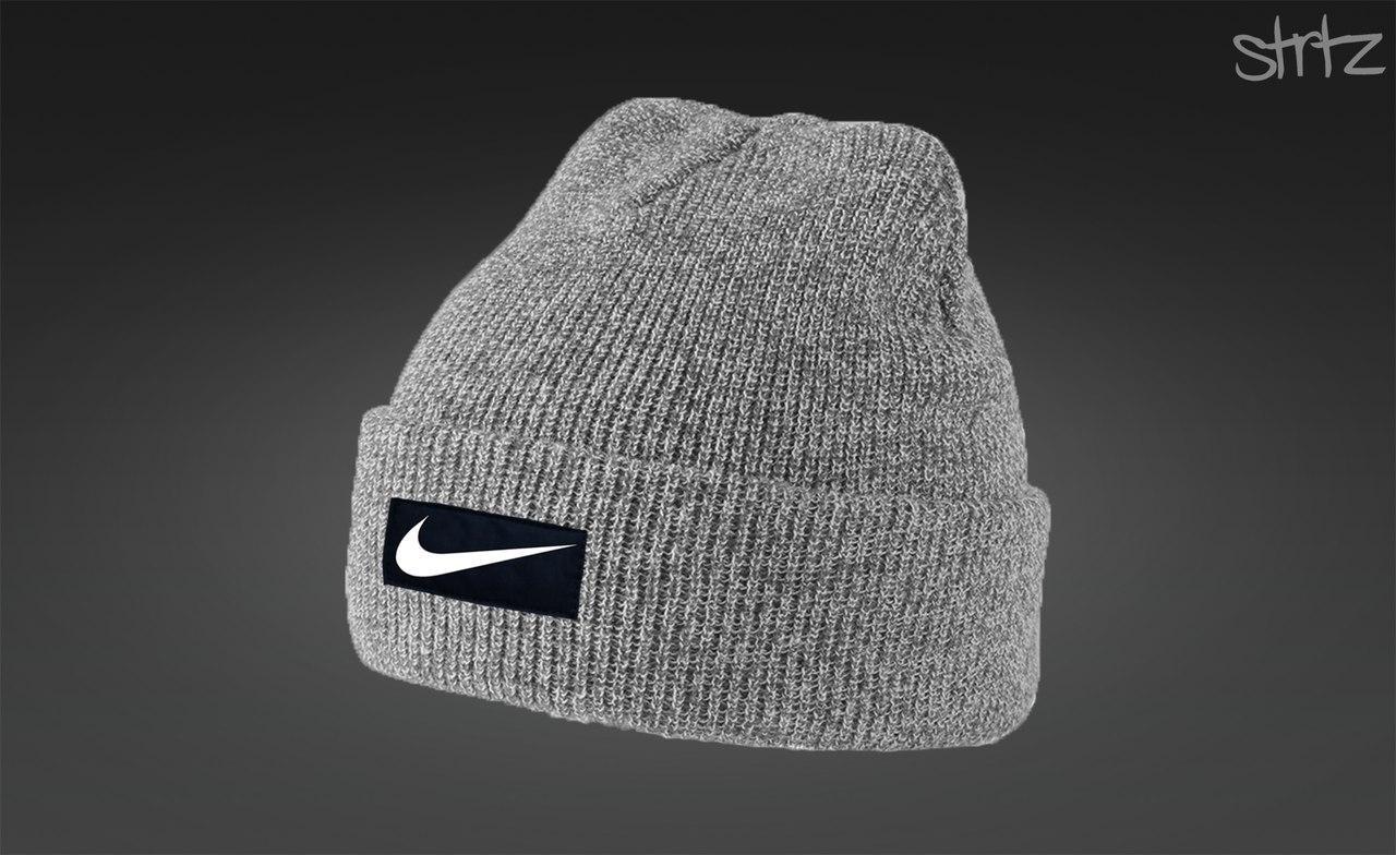 Модная зимняя шапка найк