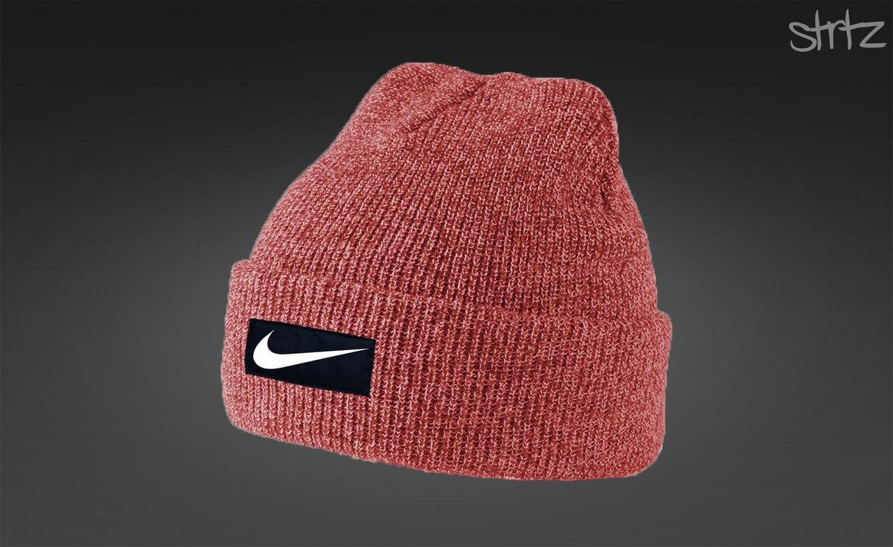 Мужская красная шапка Nike
