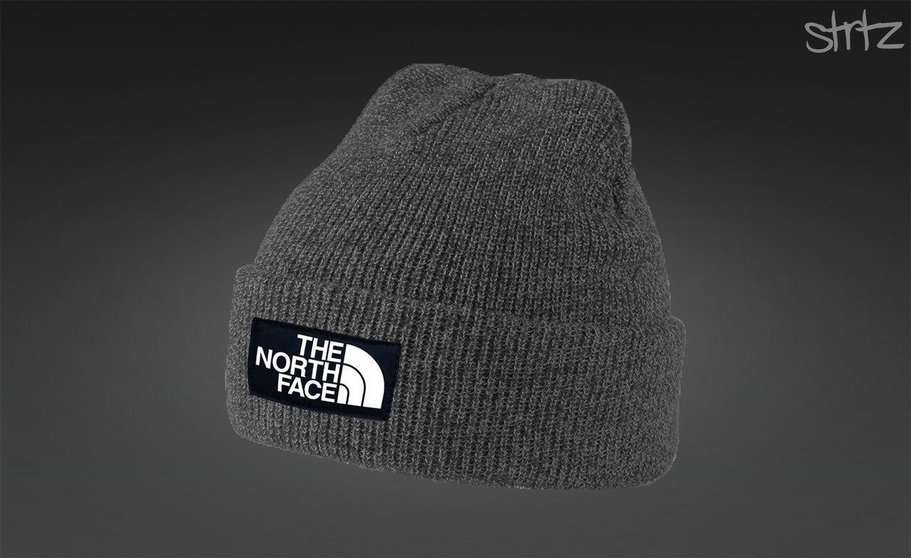Серая теплая шапка The North Face
