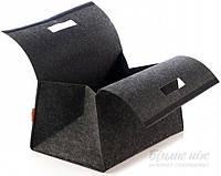 Корзина текстильный  на липучке серый 250x360x200 мм