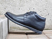 Мужские ботинки с нат кожи VanKristi Черные размеры: 40 41 42 43 44 45