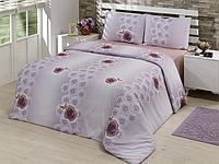 Комплект постельного белья евро Arnica purple, микросатин