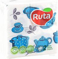 Салфетки столовые Ruta    24х24 см белые 40  шт.