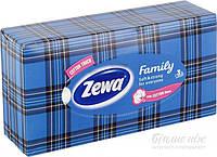 Салфетки гигиенические в боксе Zewa Family 90 шт.
