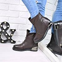 Ботинки женские Kresta шоколад 3756, ботинки женские