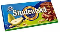 Шоколад Studentska молочный с арахисом и грушей, 180 г