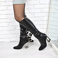 Сапоги женские Gia черные 3757, осенняя обувь