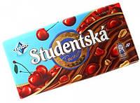 Шоколад Studentska молочный с вишней, 180 г