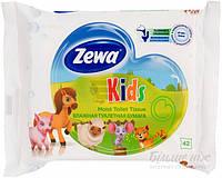 Влажная туалетная бумага Zewa Kids 42 шт.