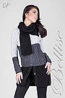 Женский кардиган с шарфом 1430