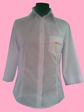 Жіноча блузка рукав 3/4 білого кольору