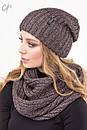 Комплект шапка с шарфом 1476, фото 2
