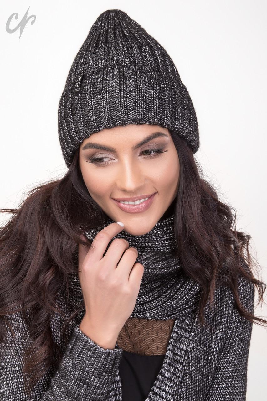Комплект шапка с шарфом 1476