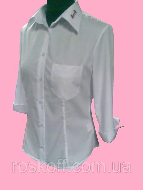 414d915eb03 Женская блузка рукав 3 4 белого цвета - Оптовая и розничная продажа мужской  и женской
