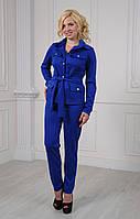 Брючный женский костюм Кэтрин цвета электрик, фото 1