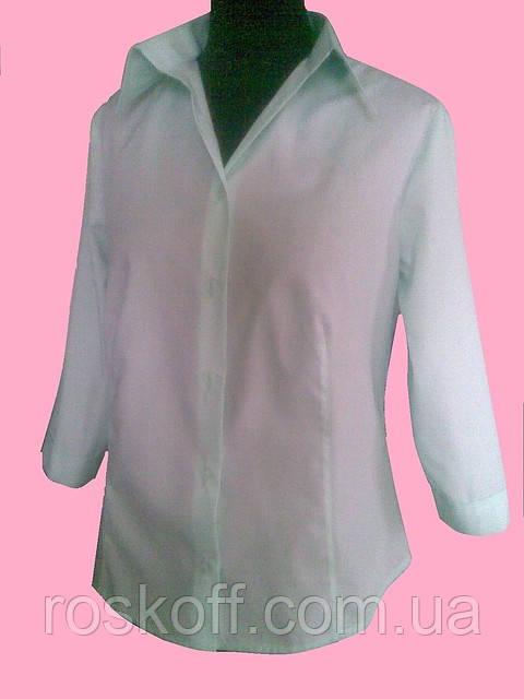 Женская блузка  рукав 3/4 салатового цвета