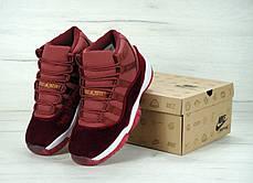 """Женские баскетбольные кроссовки Nike Air Jordan 11 Retro """"Heiress"""" Bordo. ТОП Реплика ААА класса., фото 2"""