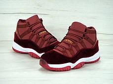 """Женские баскетбольные кроссовки Nike Air Jordan 11 Retro """"Heiress"""" Bordo. ТОП Реплика ААА класса., фото 3"""
