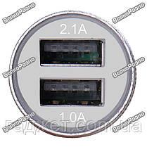 Автомобильная зарядка для телефона/планшета серого цвета., фото 3