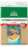 Губка для мытья посуды DOMI Fibra naturale 2 шт.