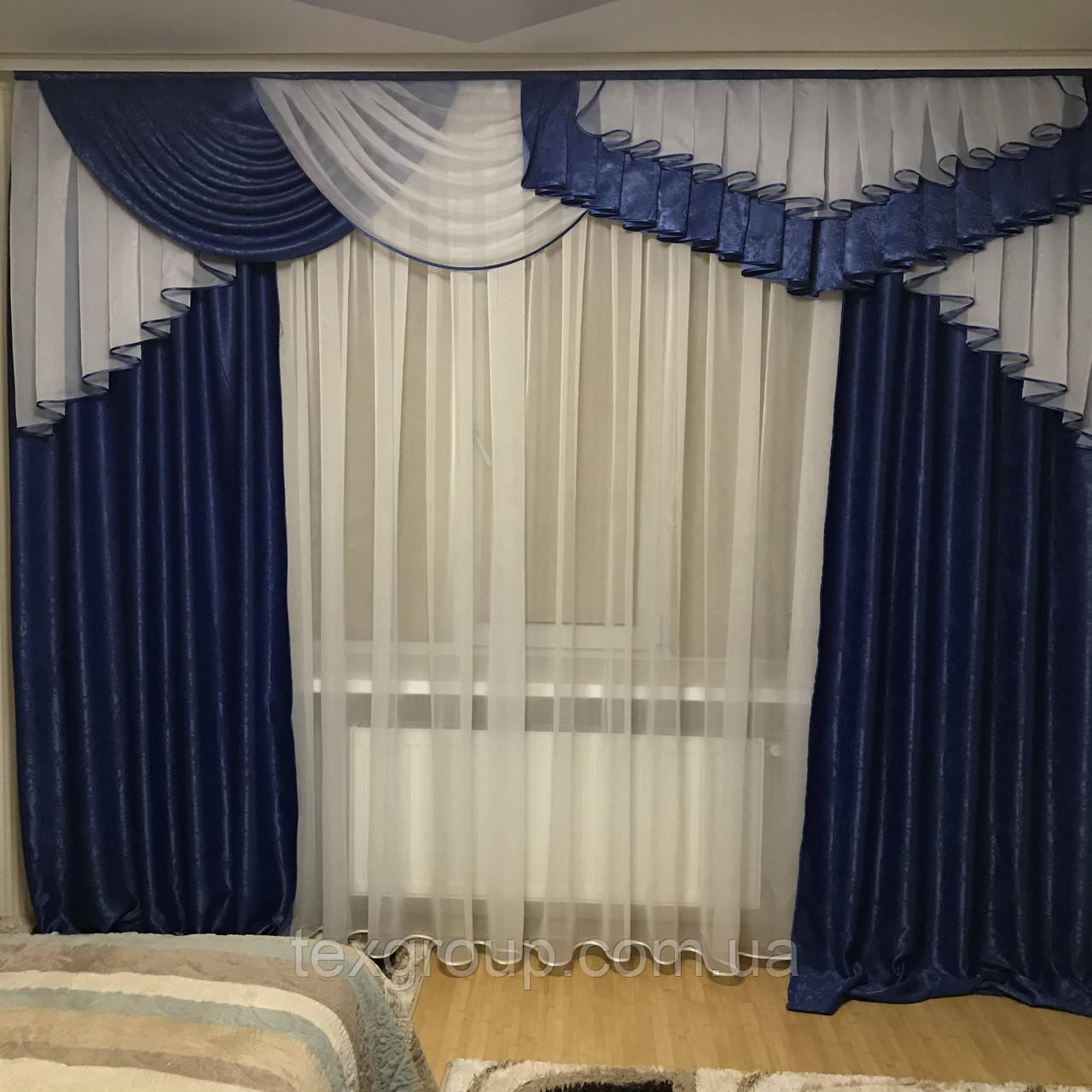 Готовые шторы с ламбрекеном №321