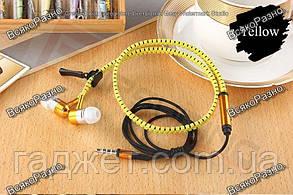 Наушники-Молния желтого цвета, фото 2
